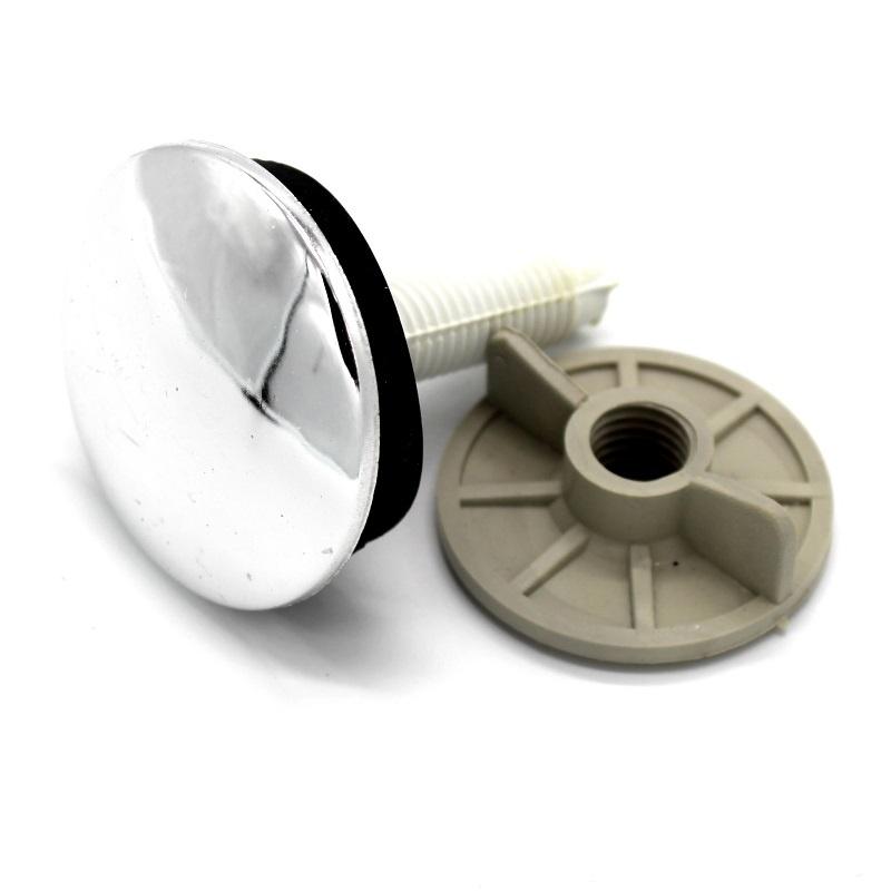 заглушка декоративная отверстия умывальника D50 мм резьба м12 хром
